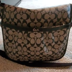 Coach messenger baby bag (used once)